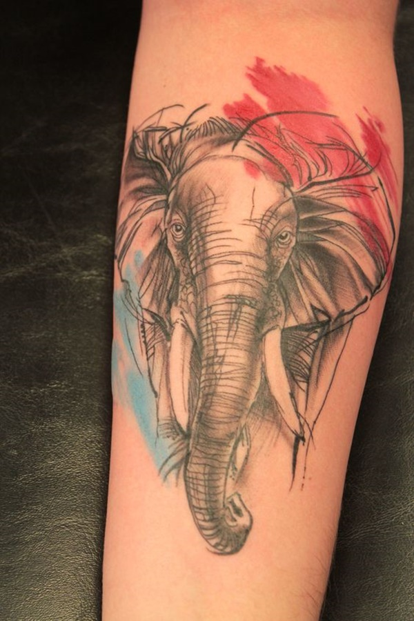 elephant tattoo designs (30)