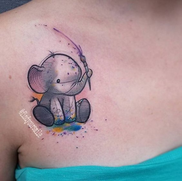 elephant tattoo designs (37)
