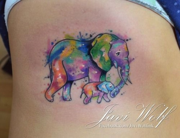 elephant tattoo designs (38)