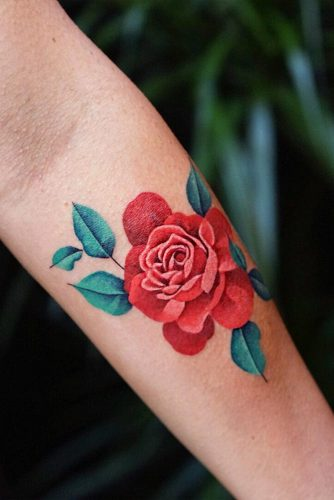 Beautiful Rose Tattoo For Arm #armtattoo #flowertattoo