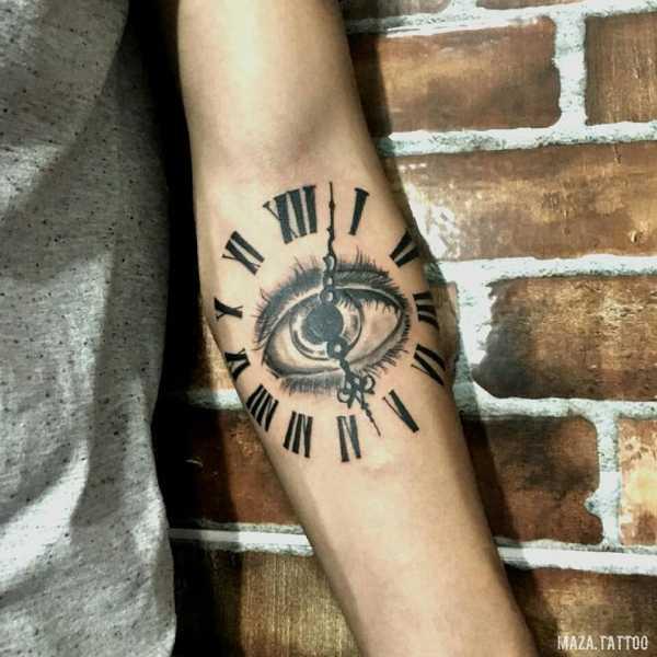 называют часы римскими цифрами тату фото так